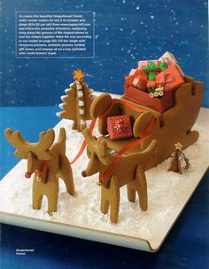 As Seen In Las Home Journal Santa S Sleigh Reindeer And Tree Dimensional Cookies