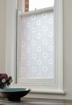 Window Film - Moroccan Tile  Perfect on any smooth and clean glass surface, this uniquely patterned adhesive film by UK designer Emma Jeffs is completely PVC-free and allows you to add style, texture and privacy where needed.