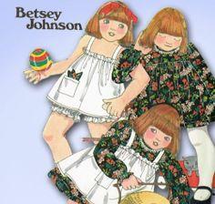 1970s Original Unused Betsy Johnson Tot Dress Pinafore Bloomers Pattern Sz 4 | eBay