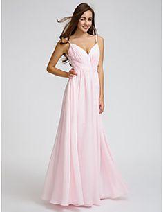 LAN+TING+BRIDE+Knee-length+Chiffon+Bridesmaid+Dress+-+A-line+Spaghetti+Straps+with+Side+Draping+/+Criss+Cross+–+USD+$+225.00