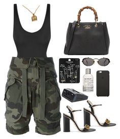 A fashion look from August 2017 featuring army shorts, swimming costume and strappy sandals. Browse and shop related looks. Cute Comfy Outfits, Dope Outfits, Stylish Outfits, Fashion Outfits, Dope Fashion, Fashion Killa, Urban Fashion, Womens Fashion, Steampunk Fashion