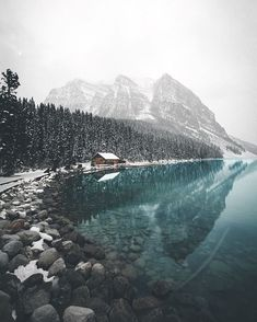 Place by the water in Banff, a town within Banff National Park in Alberta, Canada