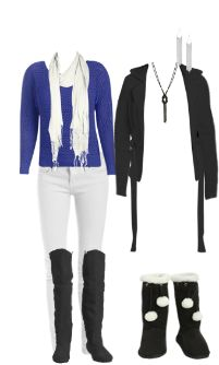 WetSeal.com Runway Outfit:  Royal blue and white by The Boss Lady.
