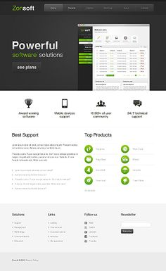 Software and Product landing page design ~ Visit www.robotforce.com for Your very own CUSTOMIZED Version of this Web Design Template! ~