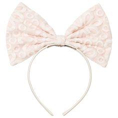 Hucklebones Pink Lace Print Giant Bow Headband