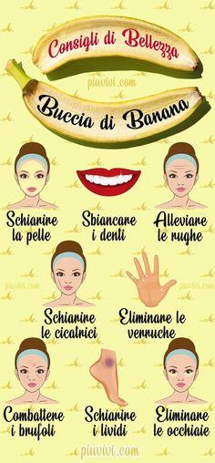 Banana Peel For Beauty- Buccia Di Banana Per La Bellezza Ba. Beauty Hacks Lips, Beauty Secrets, Ancient Beauty, Natural Beauty Tips, Homemade Skin Care, Beauty Care, Healthy Skin, Skin Care Tips, Makeup