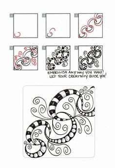 LinQ Zentangle Pattern by Laralina Doodles Zentangles, Tangle Doodle, Zentangle Drawings, Zen Doodle, Doodle Drawings, Doodle Art, Zantangle Art, Zen Art, Doodle Patterns