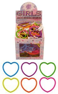 12 Heart Bracelet Party Bag Fillers / Girls Toys Kids Children Assorted Colours: Amazon.co.uk: Kitchen & Home
