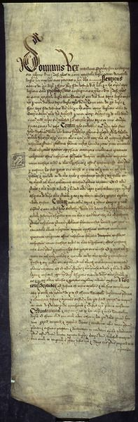 Opening Trial Document from the Trial of Anne Boleyn