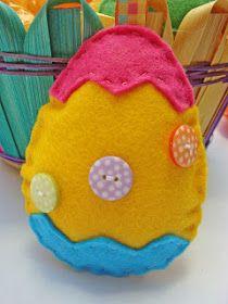 Ovos de Páscoa em tecido - moldes