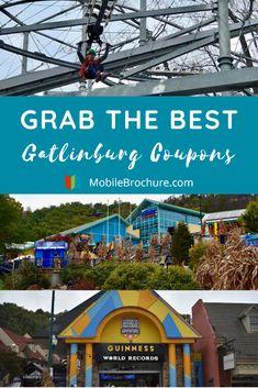 Grab the Best Gatlinburg Coupons - MobileBrochure - Smoky Mountains Gatlinburg Coupons, Gatlinburg Tennessee Restaurants, Gatlinburg Attractions, Tennessee Attractions, Smoky Mountains Attractions, Tennessee Vacation, Gatlinburg Tn, Alaska Travel, Alaska Cruise
