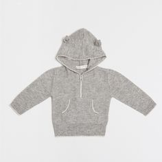 Hooded cashmere jers