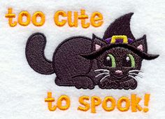 Too Cute to Spook design (D7933) from www.Emblibrary.com