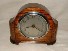nice clock | nice clock | NICE 1940s SMALL DARK OAK CASED ENGLISH MANTLE CLOCK ...