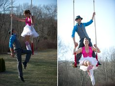 Themed Engagement Photos - Circus Engagement Photos | Wedding Planning, Ideas & Etiquette | Bridal Guide Magazine