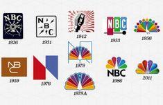 Evolution of NBC logo. #design