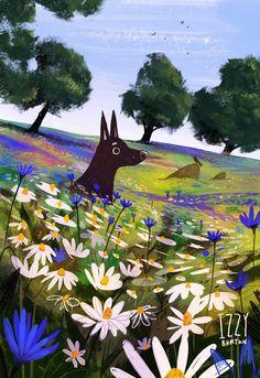 Art by Izzy Burton illustration Izzy Burton Art And Illustration, Illustrations And Posters, Spring Drawing, Spring Art, Pretty Art, Cute Art, Art Watercolor, Creature Design, Aesthetic Art