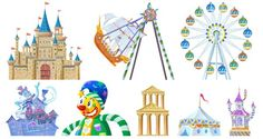 Open Office, Vector Icons, Vector Free, Circus Game, Playground Design, Game Icon, Amusement Park, Drawing, Graphic Design Art