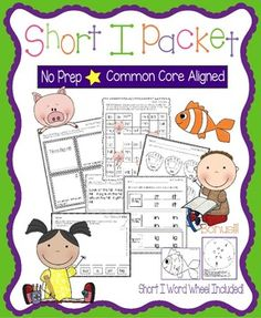 Short I PacketThese worksheets, games, books, and activities will teach the short i sound.  All pages (except for the Go Fish Game) require no prep.  All are engaging for students and make learning to read and spell short i words fun.  Pages Included:*Short I Word Families (practice writing and reading words in the -it, -in, and -ig word families)*Tim's Big Hit - A short i story to illustrate, cut, and staple*Short I Game - Players move their pieces through i game board with short i…