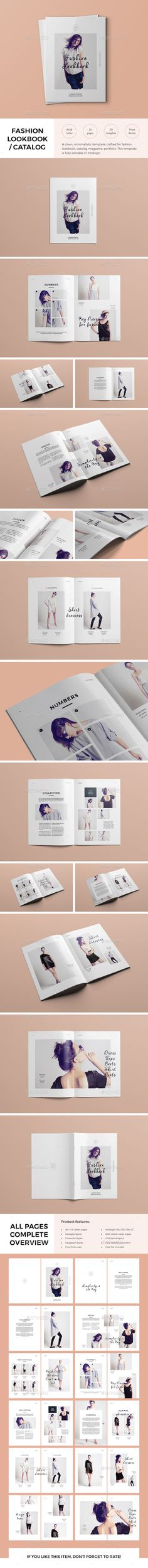 Fashion Lookbook / Catalog Template  — InDesign Template #print #clean • Download ➝ https://graphicriver.net/item/fashion-lookbook-catalog-template/14421576?ref=pxcr