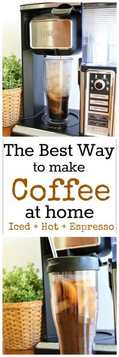The Best Way to Make Coffee at Home - Ninja Coffee Bar System - Make iced hot bl. - The Best Way to Make Coffee at Home – Ninja Coffee Bar System – Make iced hot blended espresso and cappuccinos at home that taste like the coffee shop! Ninja Coffee Maker, Ninja Coffee Bar Recipes, Ninja Recipes, Blended Coffee Recipes, Espresso Recipes, Coffee Shops, Coffee Tasting, Coffee Drinks, Coffee Lovers