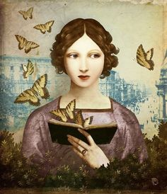 Christian Schloe (pintor e ilustrador surrealista austríaco). Reading Art, Woman Reading, Reading Books, Psychology Books, Abnormal Psychology, Positive Psychology, Lectures, Book Photography, Surrealism Photography