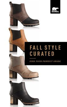 This fall, Chelsea called us, loud and clear. And we responded. Took typical Chelsea styling. And toughened it up. In our new Lea Wedge, Chelsea meets wedge meets rainy city, head-on. And in our new Addington Chelsea boot, Chelsea rises in more ways than one: with a platform heel and criss-cross gore.