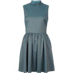 TOPSHOP Tile Print High Neck Dress ($120) via Polyvore