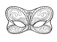 Risultati immagini per mascaras carnaval para colorear Colouring Pics, Coloring Book Pages, Adult Coloring, Quilling Patterns, Felt Patterns, Dragon Mask, Butterfly Mask, Mask Template, Mask Design