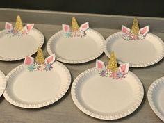 Unicorn Pappteller Party teller Einhorn kindergeburtstag Blue bouquet, natural bouquet, artificial b Unicorn Kids, Unicorn Crafts, Diy Crafts For Girls, Craft Projects For Kids, Unicorn Paper Plates, Unicorn Themed Birthday, Birthday Cake, Party Plates, Wedding Decor