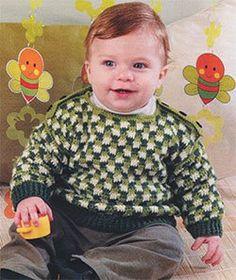 Схема вязания крючком, свитер р-р 74-80 см., на малыша 9-12 месяцев