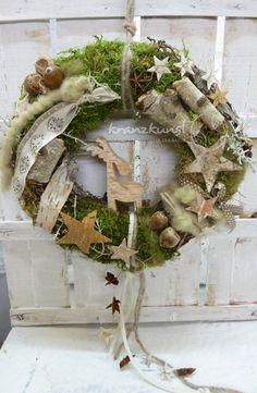 NATURKRANZ ♥Birkenelch♥ Weihnachts-/Türkranz von ♥♥ kranzkunst ♥♥ auf DaWanda.com