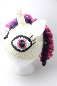 Unicorn Hat FREE crochet pattern. Homemade by Giggles. Amazing unicorn hat  with curly hair 66020a11dbd