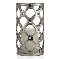 A geometric chic accessory. Ace Hurricane in Silver, $9.95 #ZGallerie