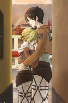 Fan Art of Eren and Annie for fans of Shingeki no Kyojin ~ Eren x Annie.