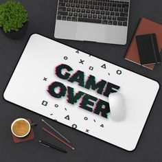 Gaming Desk Mat, The Game Is Over, Patterns, Luxury, Handmade Gifts, Etsy, Block Prints, Kid Craft Gifts, Craft Gifts