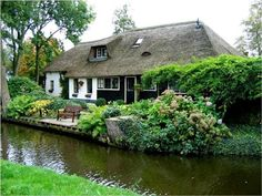"Giethoorn, ""Venice of the Netherlands"",  located in the Dutch provence of Overijssel."