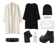 """Minimalist"" by danielime ❤ liked on Polyvore featuring Base Range, 3.1 Phillip Lim, ASOS, GUESS, Alexander Wang, Maison Margiela, platform booties, transparent, white coat and black"