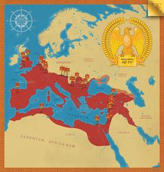 Buy Roman Empire Map by EmirD on GraphicRiver. High quality vector map of Roman Empire (dimensions cm). All elements of the map are layered and organized by f. Rome History, European History, Ancient History, Roman Empire Map, Rome Antique, Roman Legion, Alternate History, Historical Maps, Ancient Rome