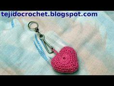 Llavero corazón de san valentín en tejido crochet, tutorial paso a paso.