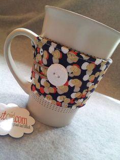 Coffee/Tea Cup Cozy using Dear Stella's Gilt Trip collection