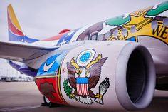 "Southwest Airlines Boeing 737-7H4 N280WN ""Missouri One"" unveiled at St Louis-Lambert, 15th April 2015. (Photo: Ashlee Duncan / Southwest Airlines)"