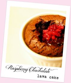 Gluten and Refined Sugar free Raspberry Chocolate Lava Cake