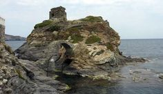 A Castle in Andros standing after bombarded in 1943!
