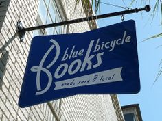 Blue Bicycle Books sign, Charleston, S.C. via Flickr