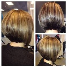 Image result for stacked bob fine hair