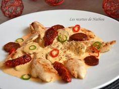 Aiguillettes de poulet, sauce crémeuse au chorizo • Hellocoton.fr