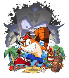 Crash Bandicoot. This drawing reminds me of the manga (yes, Crash had a shortly lived manga).