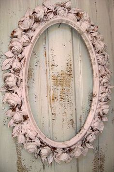 Large picture frame pink ornate with roses by AnitaSperoDesign, $140.00