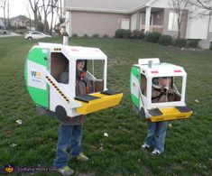 Austin says he wants to be a Garbage Truck for Halloween, hehe I think they're cute!
